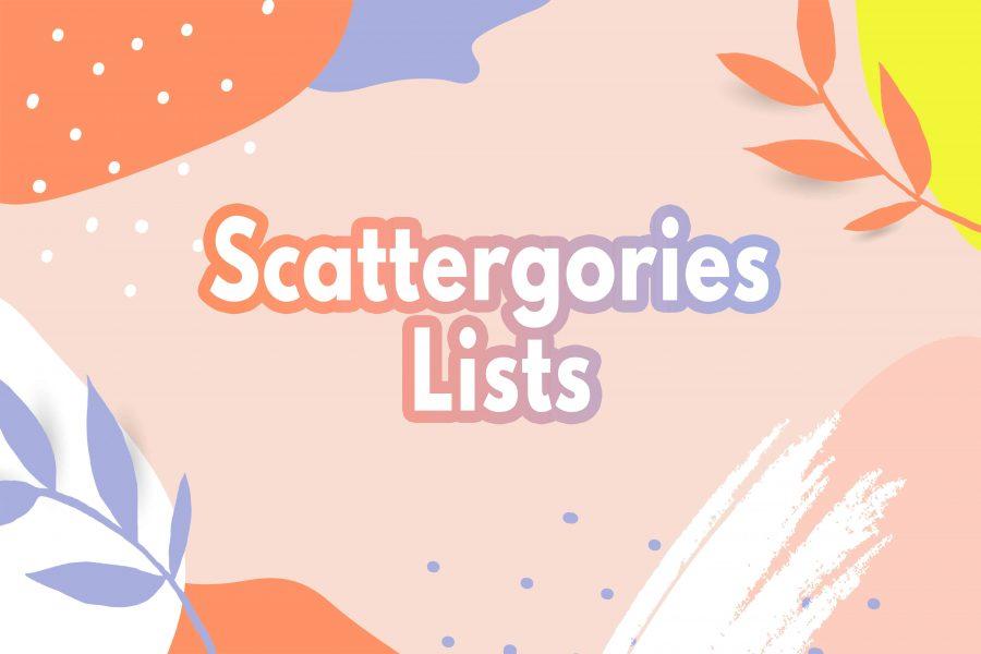 Scattergories List